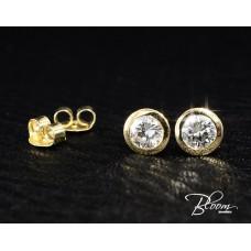 Elegant Diamond Earrings with Yellow Gold