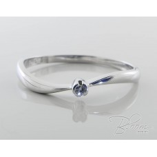 Delicate Engagement Ring with Tiny Diamond