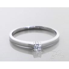 Elegant Engagement Ring with Diamond 18K