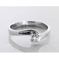Diamond Engagement Ring 18K White Gold