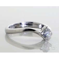 White Gold Engagement Ring with Diamond