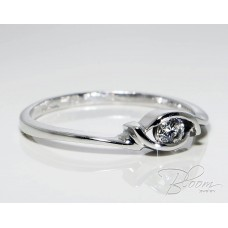 Еxtraordinary Engagement Ring with Diamond and White Gold