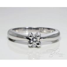 Engagement Diamond Ring White Gold 18K