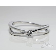 Criss Cross Engagement Ring with Diamond 18K