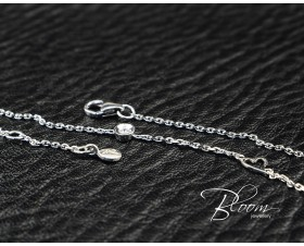 White Gold Diamond Bracelet with Tiny Heart 18K
