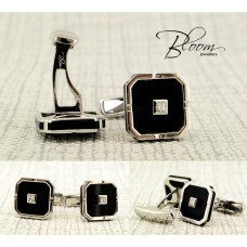 Elegant White Gold Diamond Cufflinks