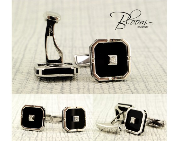 Elegant White Gold Diamond Cufflinks