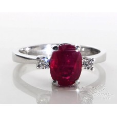White Gold Ruby Ring 18К
