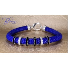 Blue Stingray Diamond Bracelet 18K White Gold