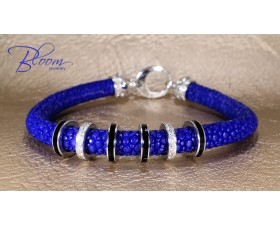 Blue Stingray Diamond Bracelet 18K White Gold