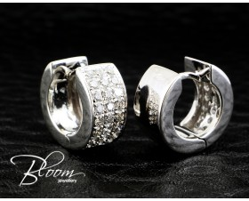 Stylish Pave Diamond Hoop Earrings