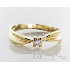 Yellow Gold Engagement Ring Real Diamond Stone