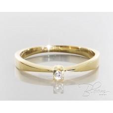 Tiny Diamond Engagement Ring 18K Yellow Gold