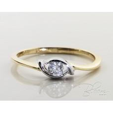 Diamond Eye Engagement Ring 18K Gold