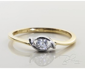 Diamond Eye Engagement Ring 18K Gold