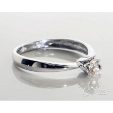 Flower Diamond Engagement Ring 18K