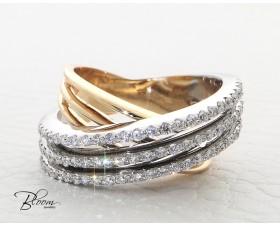 Wonderful Diamond Ring 18K White and Rose Gold