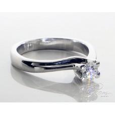 Elegant Diamond Engagement Ring 18K