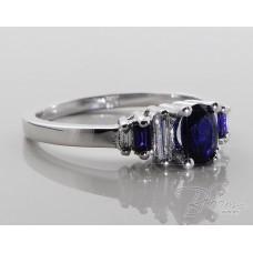 Fashion Ladies Blue Sapphire Ring