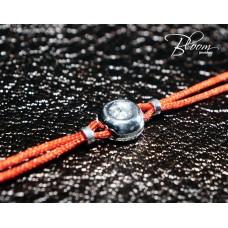 Delicate Diamond Red String Bracelet 18K White Gold Bloom Jewellery