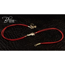 Baby Foot Red String Bracelet 14K Solid Gold and Natural Diamond Bloom Jewellery