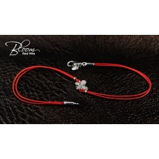 Diamond Butterfly Red String Bracelet 18K White Gold Bloom Jewellery