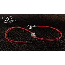 Red String Bracelet with Diamond Butterfly