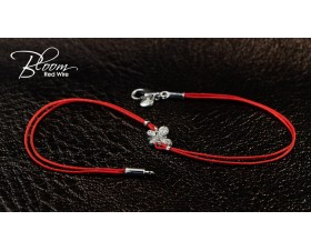 Red String Bracelet with Diamond Butterfly