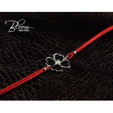 Gold Clover Red String Bracelet Bloom Jewellery