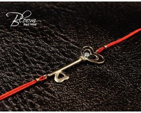 Diamond Gold Key Red String Bracelet