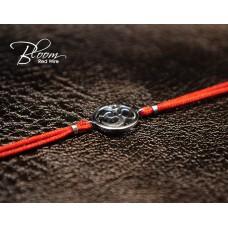 Om Symbol Red Sting Bracelet