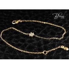 Elegant Rose Gold Bracelet with Diamond Flower