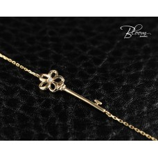 Ladies Key Bracelet 18K Rose Gold and Diamond