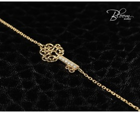 Ladies Rose Gold Bracelet with Elegant Diamond Key