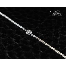 Ladies White Gold Diamond Bracelet