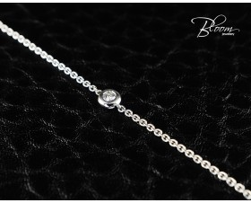 Ladies White Gold Diamond Bracelet