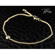 Ladies Yellow Gold Diamond Bracelet 18K