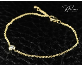 Ladies Yellow Gold Diamond Bracelet 18K