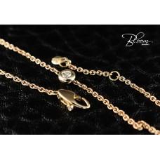 Ladies Rose Gold Diamond Bracelet