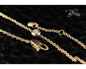 Ladies Rose Gold Diamond Bracelet