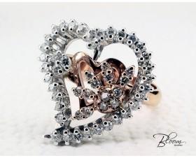 Elegant Diamond Heart Ring