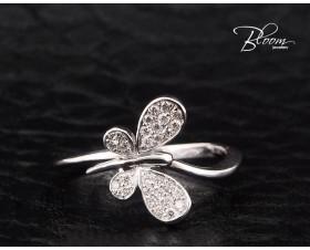 Cute Butterfly Diamond Ring
