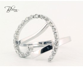 Unusual White Gold Diamond Ring