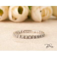 Diamond Eternity Ring Wedding Band 18K White Gold Bloom Jewellery
