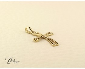 Unique Solid Gold Cross Pendant