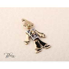 Solid Gold Clown Pendant