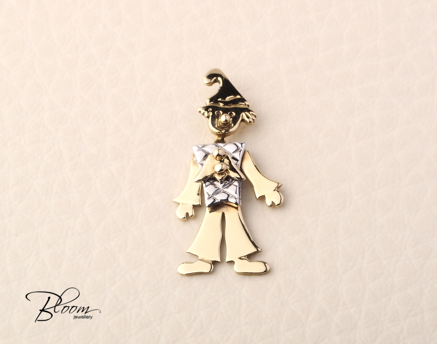 Solid gold clown pendant aloadofball Gallery
