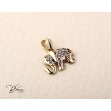 Solid Gold Elephant Necklace