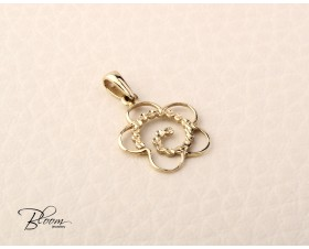 Yellow Gold Flower Pendant 14K