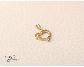 Delicate Yellow Gold Heart Necklace